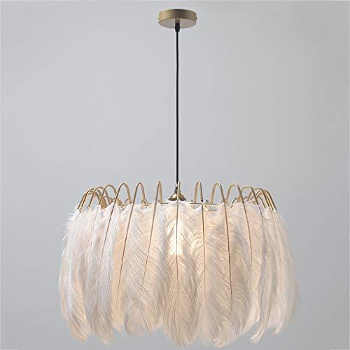 Yyqx Lámparas Colgantes Iluminación de la Pluma de lámpara de la lámpara Creativa Caliente Chica Dormitorio de la lámpara Lámpara de Techo Colgante
