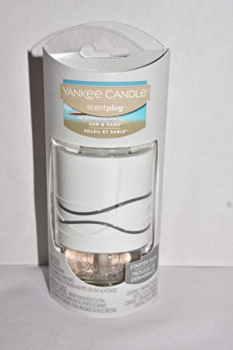 Yankee Candle Sun & Sand Scent-Plug Starter Pack with Decorative Waves Diffuser