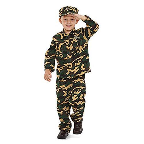 Dress Up America Costume de soldat de luxe pour enfants, 202-L, Camoflauge, 12-14 ans (Taille 34-38, Hauteur 50-57 Pouces)