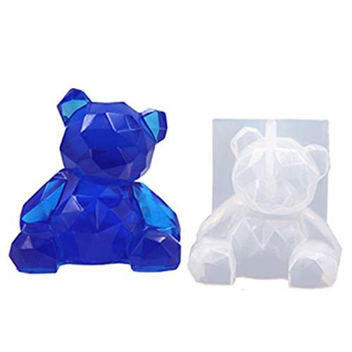 Souarts - Molde de silicona con forma de conejo, cerdo, gato, silicona, resina epoxi creativa, decoración, molde de resina epoxi para joyas de silicona, herramientas de joyas de hueso