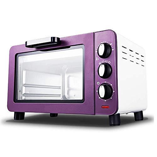 CMmin Mini-four, Mijn familie, Kenmerken van het koken, Elektrische Mini Oven Zwart met Timer, kleine elektrische oven for Caravan, Household Bakken Kleine Oven, 15 Liter, Purple