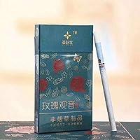 グリーンティーハーブタバコ牡丹 ジャスミン ウーロン茶 プエル茶 ローズ茶 緑茶 バラ茶 中国のハーブタバコは禁煙とニコチンフリー、 ニコチン0% 茶タバコ (10パック,Rose tea)