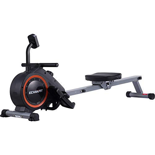 ECHANFIT Magnetic Rowing Machine for Home Use Indoor Rower Exercise Equipment for Whole Body Workout with 16 Levels Tension Resistance