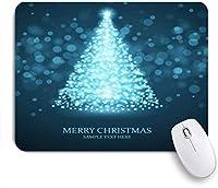 マウスパッド 個性的 おしゃれ 柔軟 かわいい ゴム製裏面 ゲーミングマウスパッド PC ノートパソコン オフィス用 デスクマット 滑り止め 耐久性が良い おもしろいパターン (フレームカラフルな色クリスマスツリーフロースター休日パターンパインAwaresomeエレガントな自然の輝き)