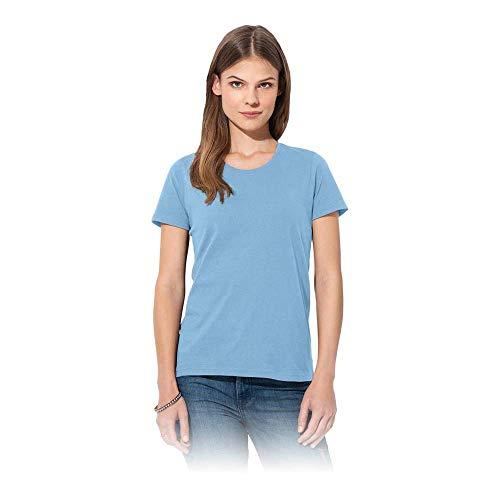 Stedman Apparel Classic-T/ST2600 T-shirt, bleu clair, Size 16 (Size:X-Large) Femme