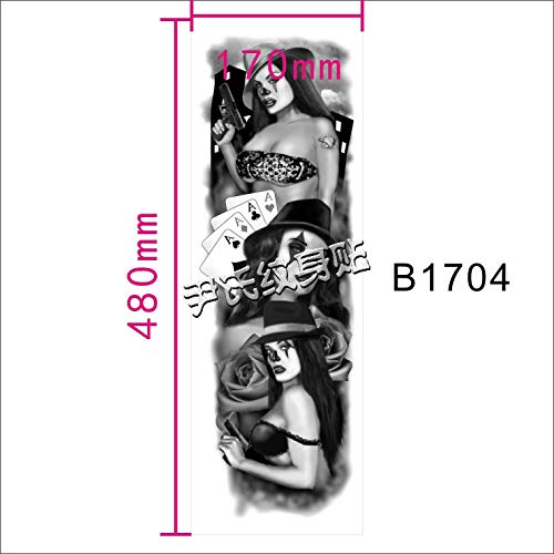 Zhuhuimin 3 stuks/set waterdichte Big Picture Tattoo sticker met volle arm over de arm draak halve rug tattoosticker