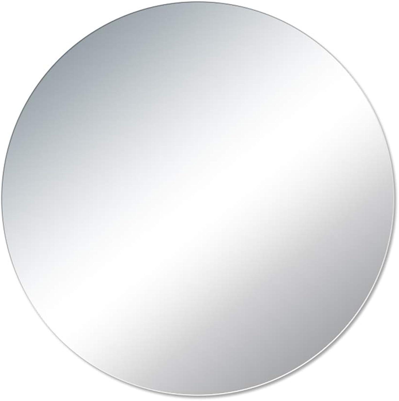 Explosion-Proof Frameless Plain Mirror, European Bathroom Round Wall Mounted Frameless Paste Simple Makeup Mirror (Diameter   40cm,50cm,60cm,70cm)