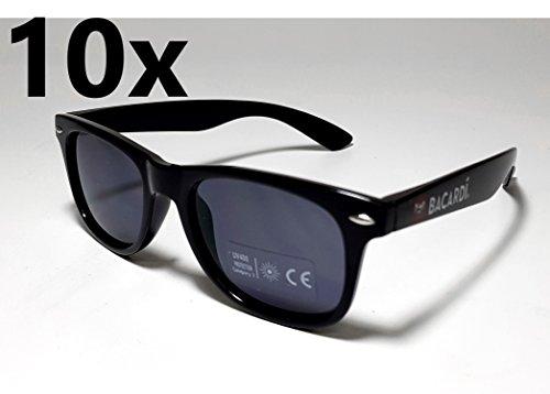 Bacardi Sonnenbrille Nerd Brille UV 400 Schutz - 10er Set