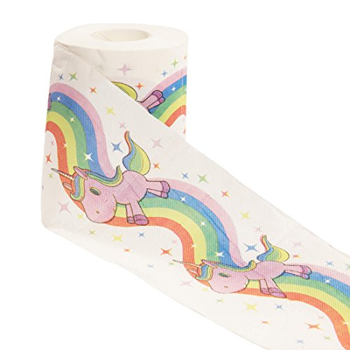 getDigital Unicorn and Rainbow Toilet Paper Bathroom Tissue | Gift Box Included | 1 Roll with 200 Sheets | 3-ply