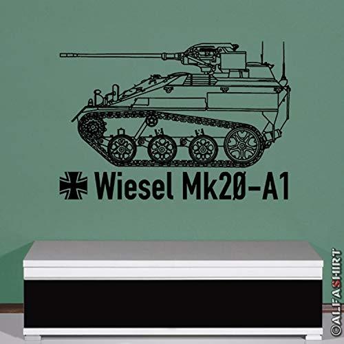 Copytec Wiesel Mk20 A1 Bundeswehr Kettenfahrzeug - Aufkleber (schwarz ca. 64x45cm) #7977