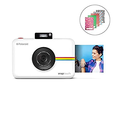 Zink Polaroid SNAP Touch 2.0 – 13MP Portable Instant Print Digital Photo Camera w/ Built-In Touchscreen Display, White