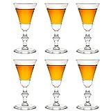 Libbey Georgian Sherry - Bicchierini da liquore, 60 ml / 6 cl, 6 pezzi, calici da sherry, con base, in vetro unico, lavabili in lavastoviglie