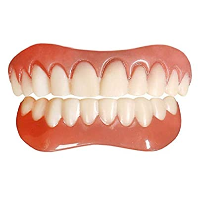 2 Pcs Upper and Lower Perfect Smile Teeth Veneers Dentures Cosmetic Teeth for Man and Woman, Repair Teeth and Smile Immediately
