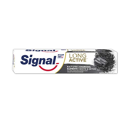 Signal Nature Elements - Pasta de Dientes Carbón Activado, 6 x 75 ml