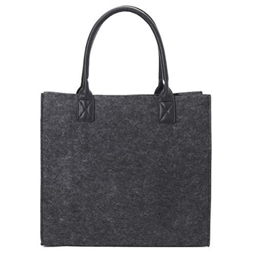 Vilten tas, boodschappentas, strandtas, opbergen, haardhouttas voor dames en heren, canvas schoudertas, boodschappentas voor reizen, kopen
