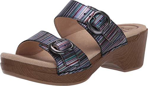 Dansko Women's Sophie Metallic Stripe Sandal 7.5-8 M US