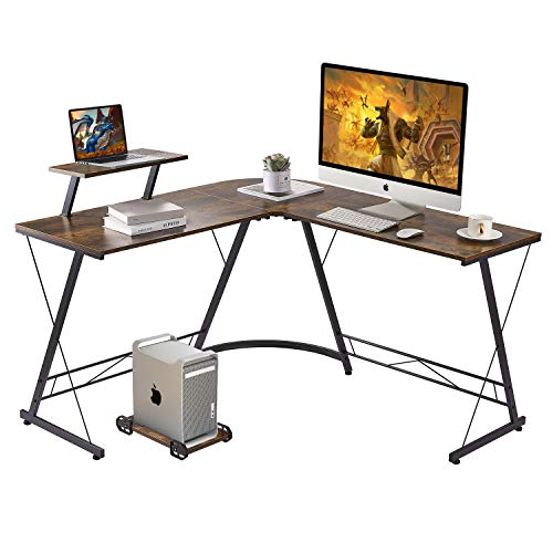 Sturdy Home Office Desk with L Shape 50' Gaming Table Writing Studying PC Laptop Workstation for Home Office Bedroom
