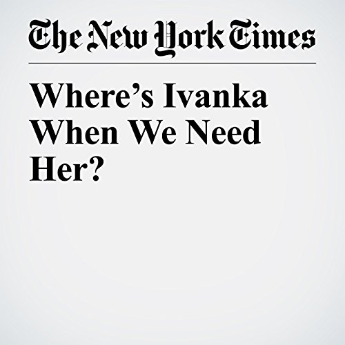Where's Ivanka When We Need Her? copertina