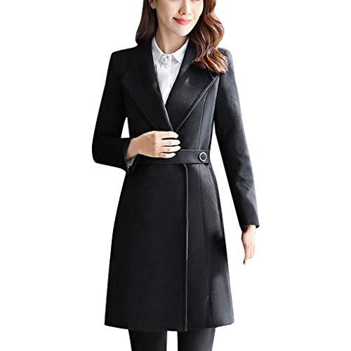 Amphia - Damen Wollmantel Lang | Boucle Wool | Trenchcoat | weicher Dufflecoat | Parka - Jack