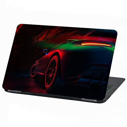 Laptop Folie Cover: Fahrzeuge Klebefolie Notebook Aufkleber Schutzhülle selbstklebend Vinyl Skin Sticker (17 Zoll, LP23 Red Car)