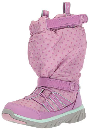 Stride Rite Baby Boy's and Girl's Machine Washable Snow Boot, Purple, 4.5 W US Toddler