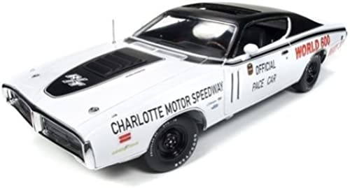 1971 Dodge Charger Weiß Charlotte Motor Speedway World 600 Pace Car Limited Edition to 1002pc 1 18 by Autoworld AW223 by Dodge