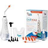 WaxBgone Ear Wax Removal Kit - Complete Ear Cleaning Kit for Adults and Kids - Rechargeable Ear Cleaner with Otoscope, 5 Pressure Settings, 10 Disposable Tips, 2 Wands & Ear Basin