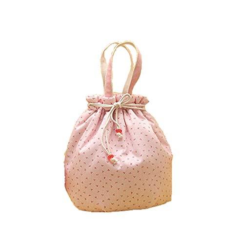Stripes lunchbox tas isolatie lunchbox lunchbox handtas zeildoek handboeien eenvoudige leuke stijl grote capaciteit handtas vrouwelijke ronde permanent
