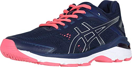 ASICS Women's GT-2000 7 Running Shoes, 8M, Peacoat/Silver