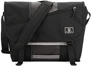 OIWAS Messenger Bag for Men 15.6 Inch Laptop Canvas Satchel Crossbody Briefcase Shoulder Bookbag Large Work Travel Women Black