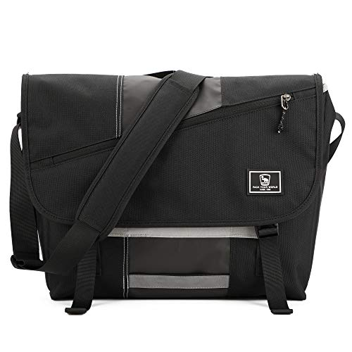 OIWAS Laptop Messenger Bag for Men Satchel Briefcase Travel Crossbody Shoulder 15.6 Inch Large Schoolbag College Work Women Teens Black