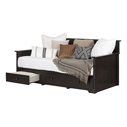 South Shore Daybed with 3 Storage Drawers, Chocolate, 39',