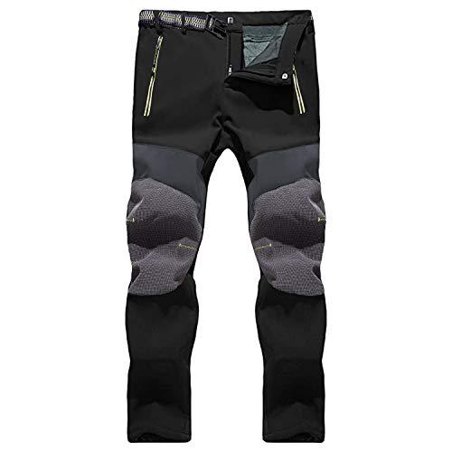 SUKUTU Pantaloni da Escursionismo Invernale da Uomo Pantaloni da Passeggio Sportivi Foderati in Pile Softshell Impermeabile