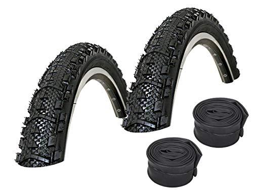 KENDA Set: 2 x Kwick K879 ATB/MTB Fahrrad Reifen 50-559 / 26x1.95 + Conti SCHLÄUCHE Rennradventil
