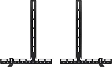 Sound Bar Mounts Universal Soundbar Brackets for Mounting Above or Under TV,Adjustable Arm Fits 32 to 70 Inch TVs,22Lbs Weight Capacity-Black