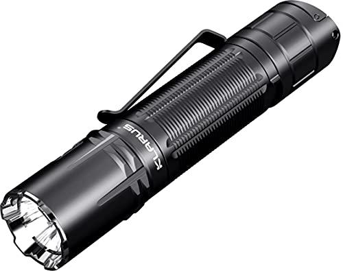 Klarus XT2CR Pro 2100 lumens Tactique Lampe de Poche Rechargeable Ultra lumineuse, CREE XHP35 HD E4 LED lampe torche étanche pour camping en plein, avec batterie 18650 et Holster… (XT2CR Pro)