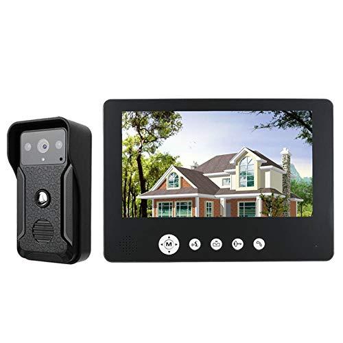 DNAMAZ Portero Pantalla de Color de 9 Pulgadas Inicio Video Interphone Doorphone Bell Kits Home Families Puertas Control de Acceso a los Sistemas de intercomunicación automatico (Color : G905QA11)
