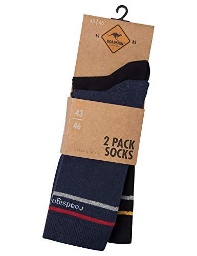 ROADSIGN australia Unisex Socken mit Schaft in mittlerer Länge navy/schwarz | 39-42