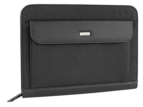 Bugatti Ufficio Dokumentenmappe mit Organizer für Handtasche, 35 cm, Schwarz