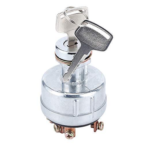 Piezas de cortacésped, interruptor de encendido con 6 terminales, excavadora, tractor, cortacésped, 2 llaves aptas para SK200-3/SK200-5/SK120-5