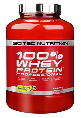 Scitec Nutrition 100% Whey Protein Professional con aminoácidos clave y enzimas digestivas adicionales, 2.35 kg, Limón-Tarta de queso