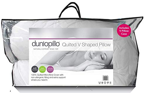 Dunlopillo Quilted V Shaped Pillow