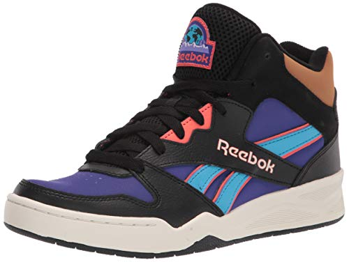 Reebok mens Bb4500 Hi 2 Sneaker, Black/Team Purple/Semi Orange Flare, 10 US