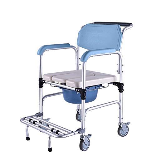 Toiletstoel Commode Seat, Padded Zetel van de douche met wielen en ingebouwde toiletstoel, for de lumbale wervelkolom, benen en voeten, hemiplegie, verlamming en andere patiënten