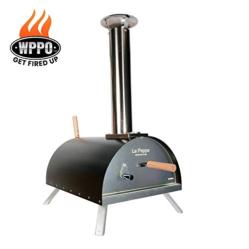 WPPO Le Peppe Multi-Fuel Deluxe Stainless Steel Outdoor Pizza Oven in RED, Wood Fired Portable Oven and BBQ, Built-In…