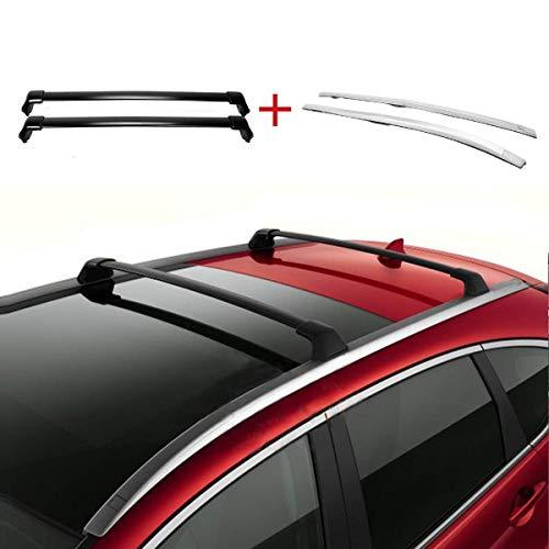 ROSY PIXEL Roof Rack 2012 2013 2014 2015 2016 for Honda CR-V Cargo Luggage Carrier Cross Bars + Side Rail Racks