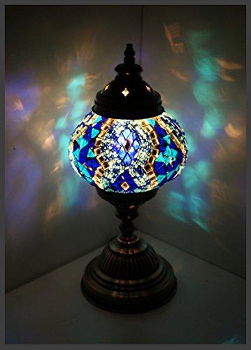 Mosaiklampe Mosaik - Tischlampe M Stehlampe orientalische lampe Blau Samarkand-Lights