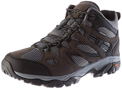 Hi-Tec RAVUS Vent Lite Mid Waterproof, Zapatillas para Caminar Hombre, Pizarra Gris Oscuro carbón, 42 EU