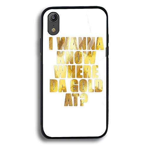Tempered Glass Golden Entity Poster Designed for Apple iPhone XR Case/Designed for Apple iPhone XR Case