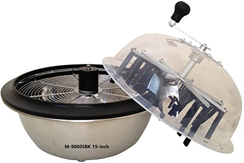 VR GROW the Clean cut M-9000S Series Bowl Leaf Trimmer M-9000SBK 19-inch Hydroponic Spin Cut Bud Flower Bowl Leaf Trimmer